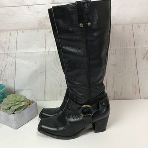 """Caterpillar """" Meriope """" black leather tall boots 7"""